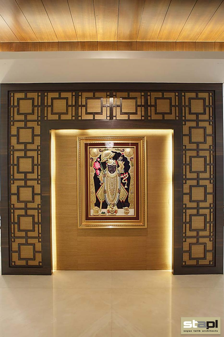 Private residence soyuz talib architects - Pooja room door designs in kerala ...