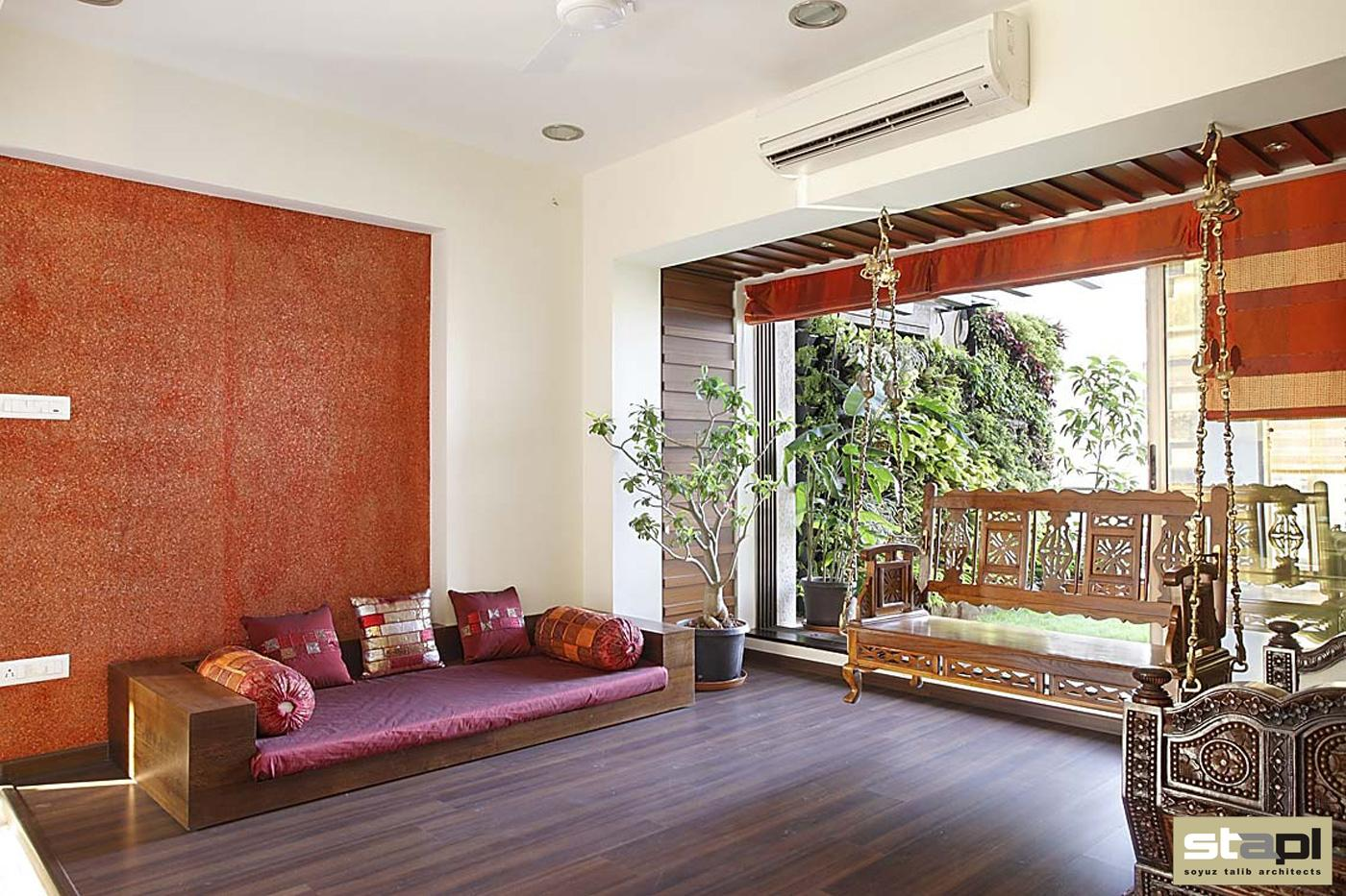 Private residence soyuz talib architects for Bharatiya baithak designs living room