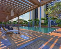 swimming pool deck area